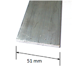 Aluminium Flat Bar 51X2mm