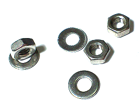 Hexagon Nut & Washer Set Stainless Steel SUS304 M3 10 Pc/Lot