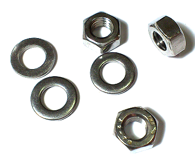 Hexagon Nut & Washer Set Stainless Steel SUS304 M6 10 Pc/Lot