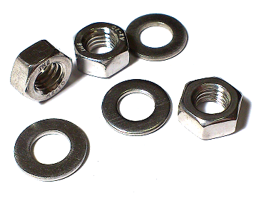 Hexagon Nut & Washer Set Stainless Steel SUS304 M8 10 Pc/Lot